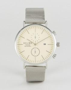 Серебристые часы с хронографом и сетчатым браслетом Reclaimed Vintage Inspired - Серебряный