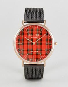 Часы с сетчатым ремешком Reclaimed Vintage Inspired - Черный