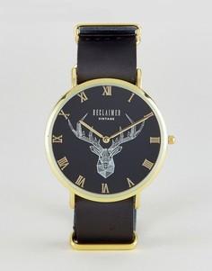 Часы с кожаным черным ремешком Reclaimed Vintage Inspired - Черный