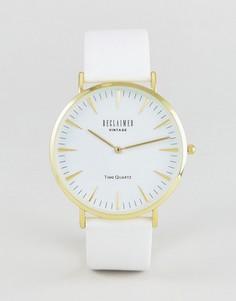 Часы с белым кожаным ремешком Reclaimed Vintage Inspired - Белый