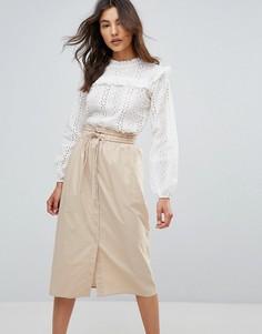Кружевная блузка QED London - Кремовый