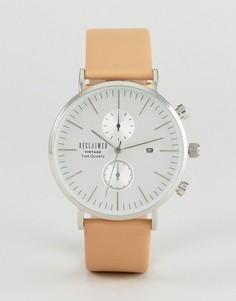 Часы-хронограф со светло-коричневым кожаным ремешком Reclaimed Vintage Inspired - Рыжий