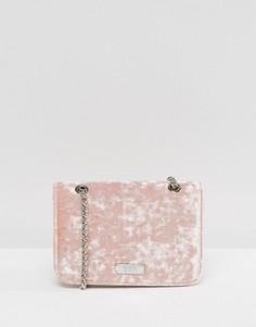 Розовая маленькая бархатная сумка через плечо Faith - Розовый