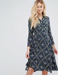 Платье на пуговицах с воротником Closet - Зеленый