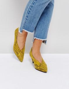 Туфли на каблуке с эффектом змеиной кожи Gestuz - Мульти