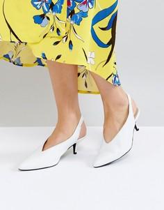 Белые кожаные туфли с открытой пяткой Gestuz - Белый