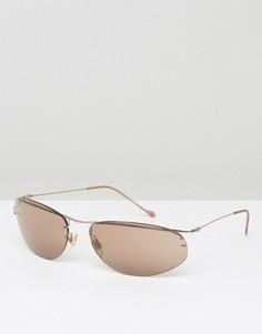 Коричневые солнцезащитные очки кошачий глаз Reclaimed Vintage Inspired - Коричневый