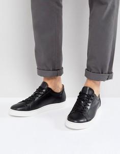 Черные кожаные кроссовки Selected Homme David - Черный