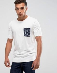 Футболка с принтом на кармане Only & Sons - Белый