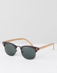 Солнцезащитные очки в черепаховой оправе в стиле ретро AJ Morga - Коричневый