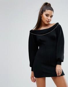 Платье-свитшот Kendall + Kylie - Черный