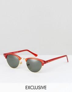 Красные солнцезащитные очки в стиле ретро Reclaimed Vintage Inspired - Красный