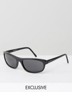 Черные квадратные солнцезащитные очки Reclaimed Vintage Inspired - Черный