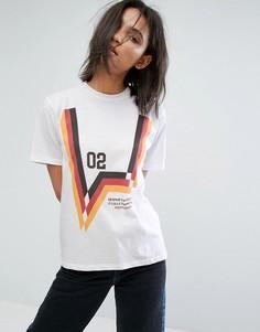 Свободная футболка с принтом спереди и на спине STYLENANDA - Белый