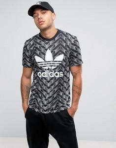 Черная футболка с принтом adidas Originals Soccer BQ1864 - Черный
