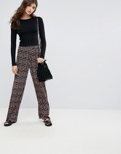 Широкие брюки с цветочным принтом Pieces Lommo - Мульти