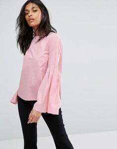 Блузка с рукавами клеш Vero Moda - Розовый