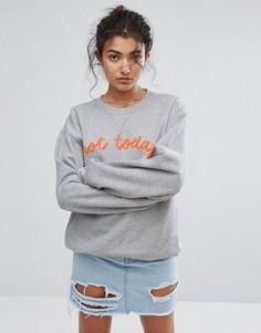 Свитшот с принтом Not Today Adolescent Clothing - Серый