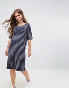 Трикотажное платье в полоску Pieces Damara - Темно-синий