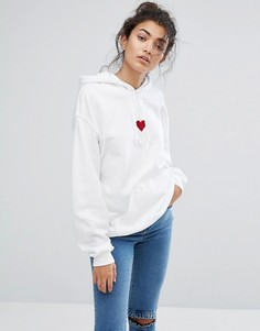 Худи Adolescent Clothing Red Heart - Белый
