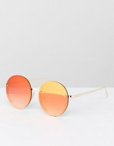 Круглые солнцезащитные очки в красной оправе Jeepers Peepers - Красный