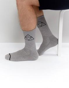 Носки с треугольным логотипом HUF - Серый