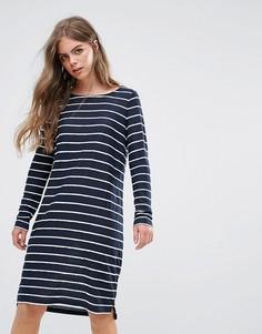 Свободное платье в полоску Pieces - Темно-синий
