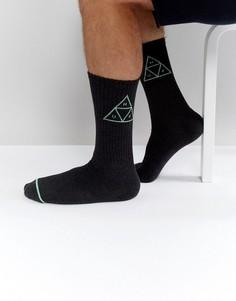 Носки с треугольным логотипом HUF - Черный
