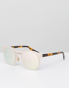 Розовые круглые солнцезащитные очки Jeepers Peepers - Розовый