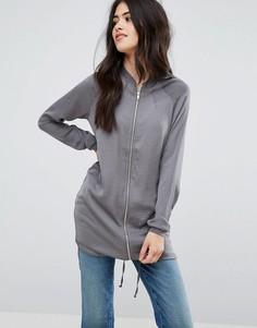 Легкая удлиненная куртка Vila - Серый
