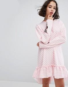 Платье с оборкой The Ragged Priest Cottonmouth - Розовый