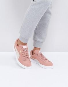 Розовые замшевые кроссовки Puma - Розовый