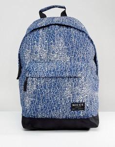 Темно-синий рюкзак с принтом трещин Nicce - Темно-синий