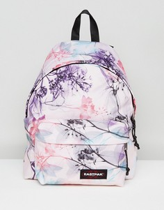 Рюкзак пастельного оттенка с цветочным принтом Eastpak Padded Pak R - Розовый
