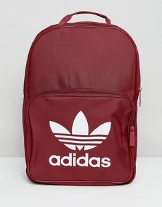 Классический бордовый рюкзак с логотипом-трилистником adidas Originals - Красный