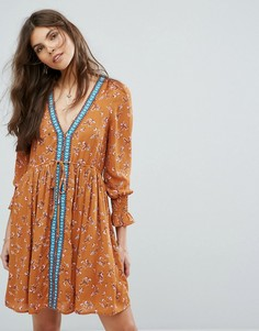 Свободное платье Moon River - Оранжевый
