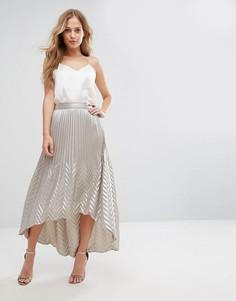 Плиссированная юбка макси Coast Paige - Серебряный