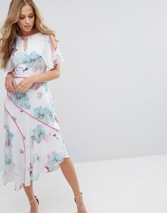 Мягкое платье миди с принтом Coast La Hune - Мульти