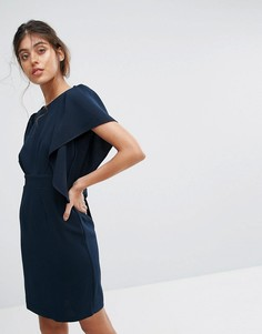 Платье миди с короткими рукавами Closet - Темно-синий