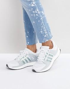 Бело-зеленые кроссовки adidas Originals EQT - Белый
