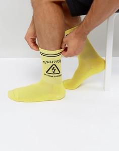 Желтые носки с рисунком Granted - Желтый