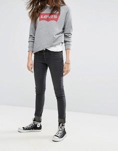 Темные джинсы скинни с классической талией Levis 711 - Черный Levis®