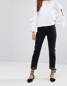 Прямые джинсы с люверсами Miss Selfridge - Мульти
