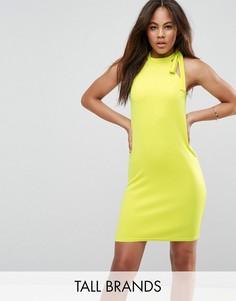 Платье-футляр с американской проймой и завязкой Oh My Love Tall - Желтый