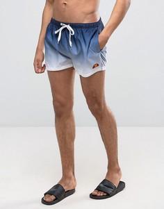 Сине-белые шорты для плавания с эффектом деграде Ellesse - Темно-синий