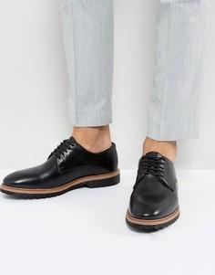 Черные кожаные туфли дерби New Look - Черный