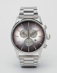Часы из нержавеющей стали с хронографом Nixon Sea Ranch Sentry - Серебряный