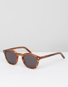 Круглые солнцезащитные очки янтарного цвета Monokel Nelson - Коричневый