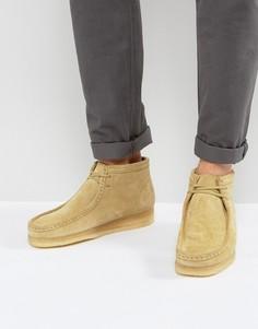 Замшевые ботинки Clarks Originals - Бежевый