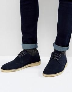 Замшевые туфли Clarks Originals Desert London - Темно-синий